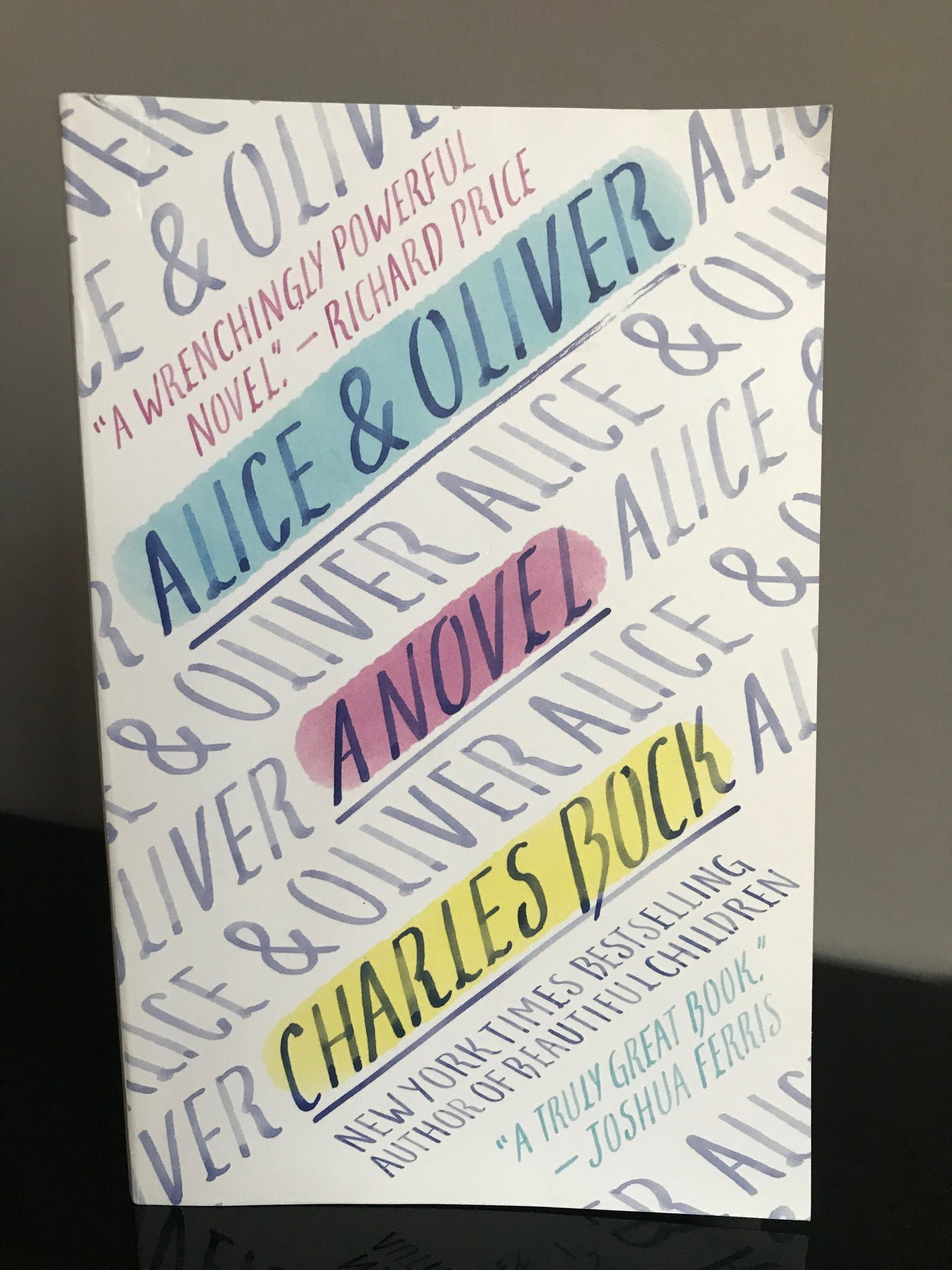 Book Review: Alice & Oliver by Charles Bock